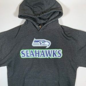 Seattle Seahawks Pullover Hoodie Size L EUC